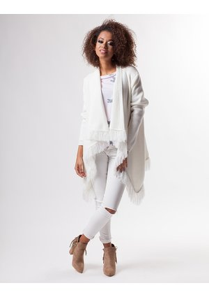 WATERFALL CARDIGAN WITH FRINGING