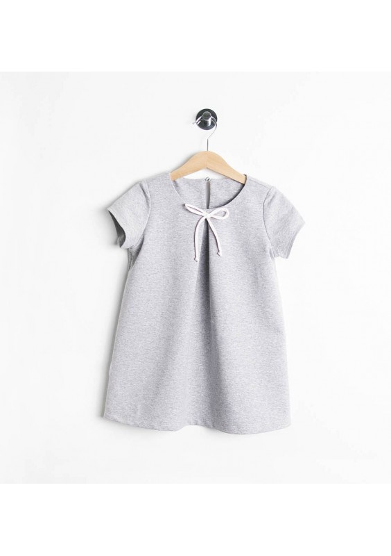 KIDS COTTON DRESS WITH BOW