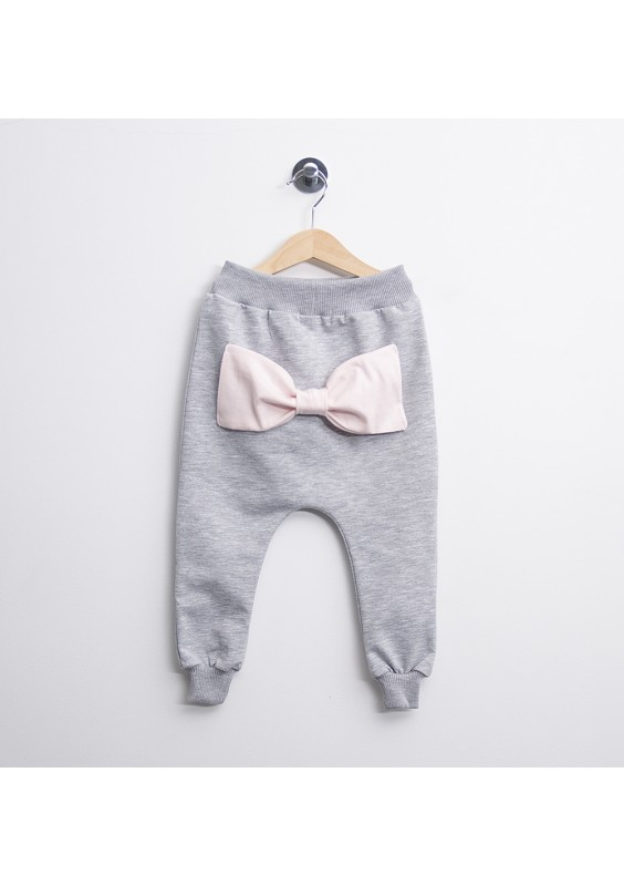 SWEATPANTS WITH A BOW FOR GIRLS