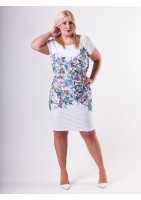 SUMMER DRESS IN FLOWERS PRINT