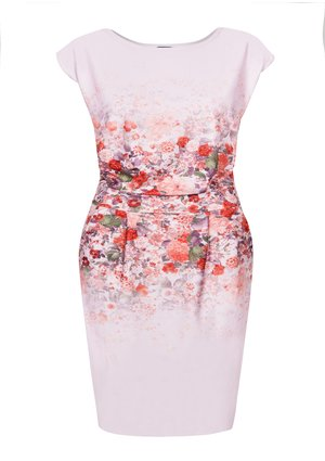 SUMMER DRESS IN FLOWERS PRINT PLUS SIZE