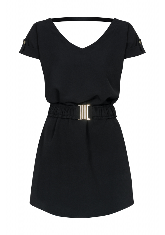 DRESS WITH ROLLED UP SLEEVES