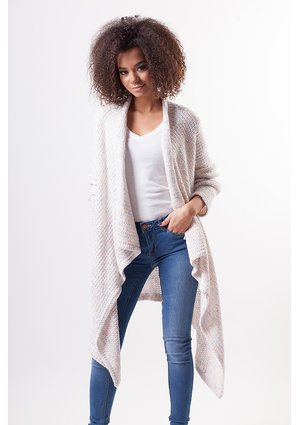 PASTEL COLORS CARDIGAN WITH SHAWL COLLAR
