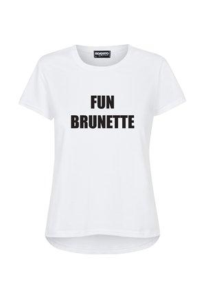 """T-SHIRT """"FUN BRUNETTE"""""""