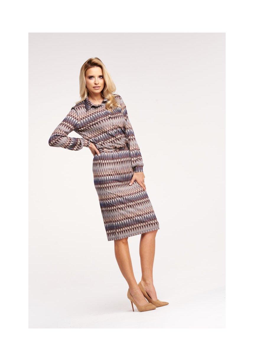 688d470013 Elegancka sukienka midi w jesiennym stylu