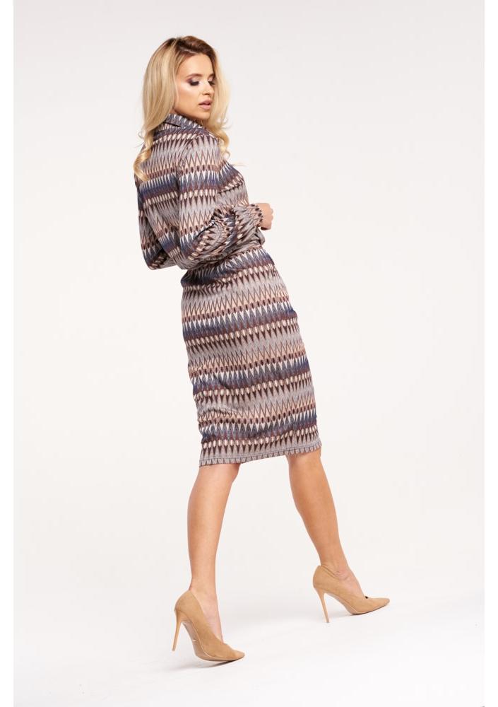 b72870d345 Elegancka sukienka midi w jesiennym stylu