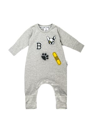 LONG SLEEVES ROMPER WITH DOG PATCHES