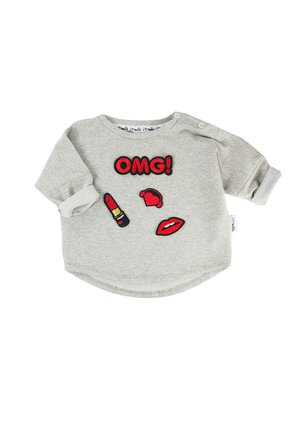 SWEATSHIRT WITH OMG PATCHES