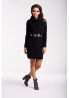 SWEATER DRESS WITH TURTLENECK