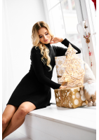 sweterkowa sukienka na zimę