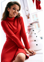 TWO PIECES KNITWEAR SET WITH TURTLENECK TOP