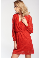 CROSSOVER LACE DRESS