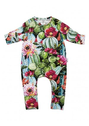 "LONG SLEEVES ROMPER ""CACTUS FLOWERS''"