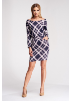 PENCIL DRESS IN HOUNDSTOOTH PATTERN