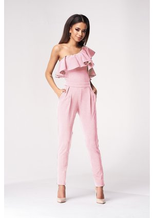 JUMPSUIT WITH ASYMMETRIC FRILL
