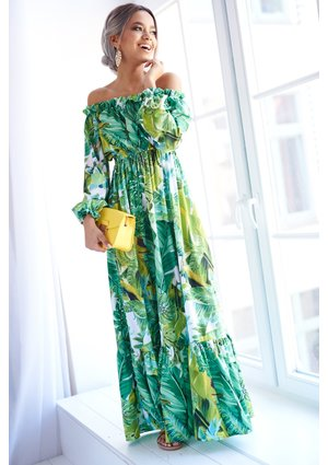 MAXI DRESS IN BANANAS PRINT