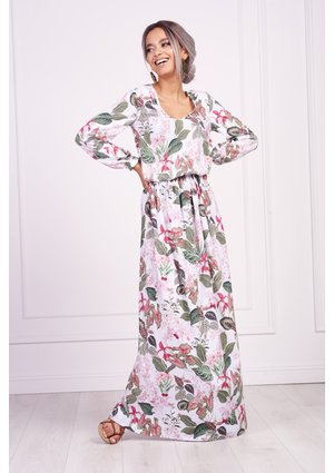 MAXI FLOWERS PRINT DRESS