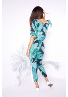 OFF SHOULDERS BANANAS  PRINT PLAYSUIT