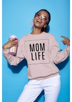 "SWEATSHIRT SLOGAN ""MOM LIFE"" ILM"