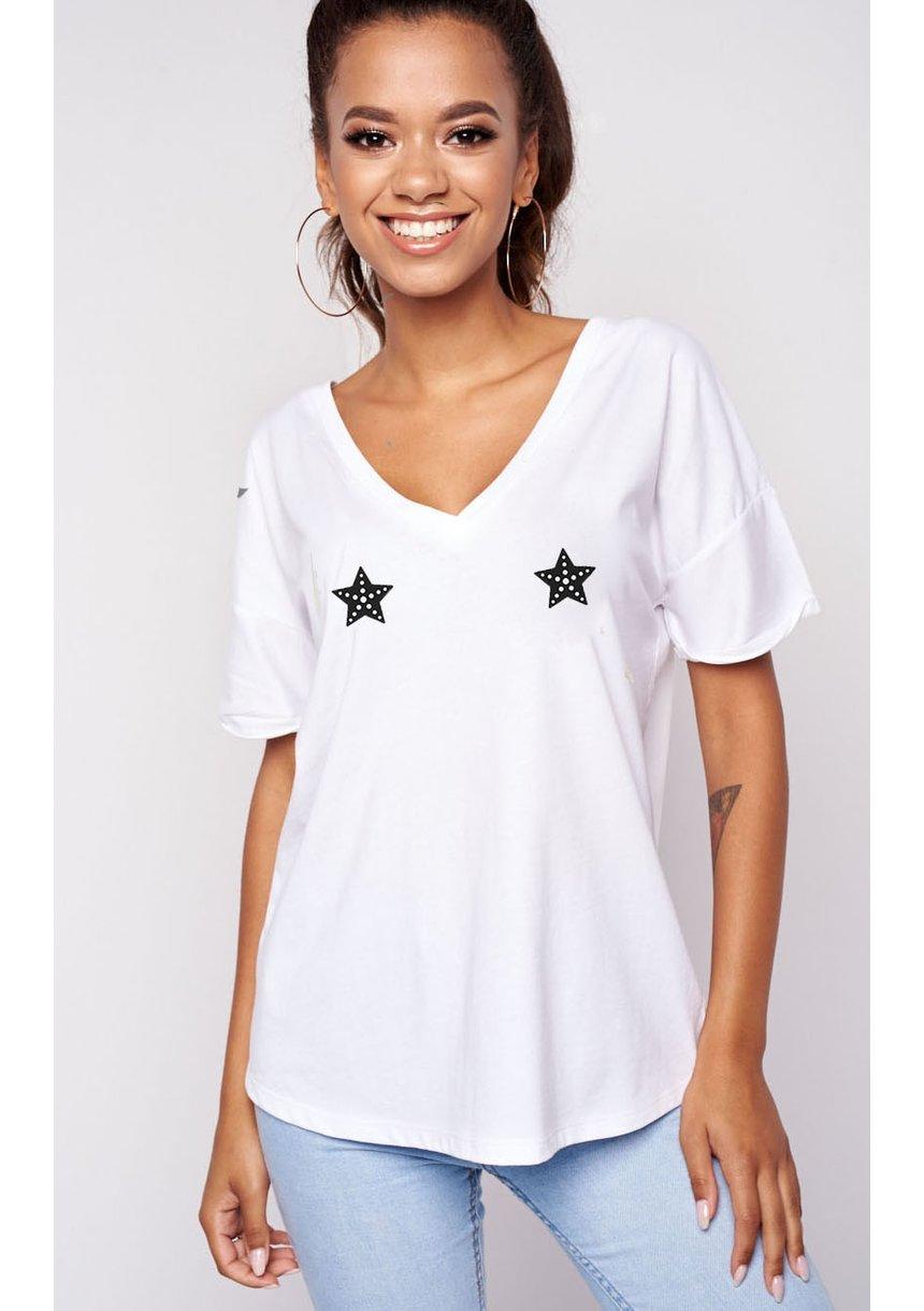 """T-SHIRT V NECK """"STARS"""" ILM"""