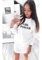 "SWEATSHIRT SLOGAN ""GIRL POWER"" ILM"