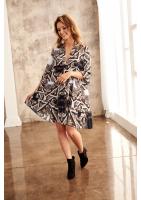 ORNAMENT PRINT SMOCK DRESS