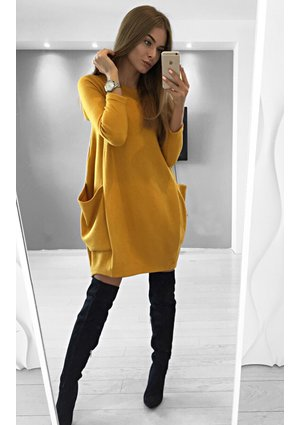KNITTED TUNIC WITH POCKETS