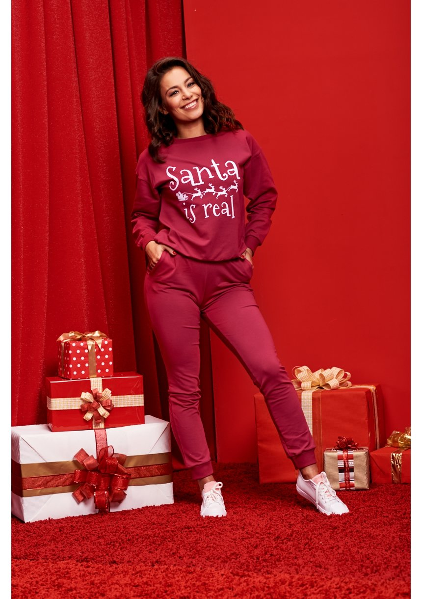 "SWEATSHIRT SLOGAN ""SANTA IS REAL"" ILM"