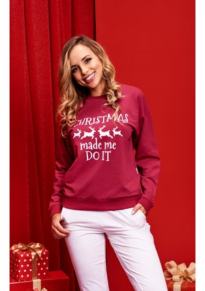 "SWEATSHIRT SLOGAN ""CHRISTMAS MADE ME DO IT"" ILM"