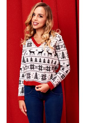 SWEATER WHITE WINTER ILM A25