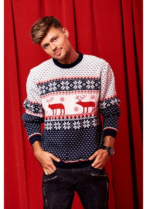 NAVY DEER MAN SWEATER ILM A22