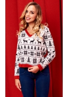 SWETER WINTER TIME RED DETAILS