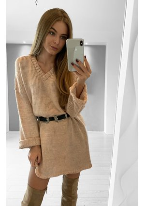 POWDER BOUCLE DRESS