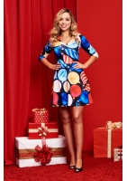 DRESS CHRISTMAS BOMBKI PRINT ILM
