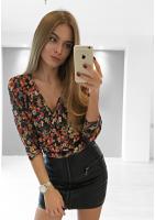 KOPERTOWY SWETEREK FLOWERS ILM