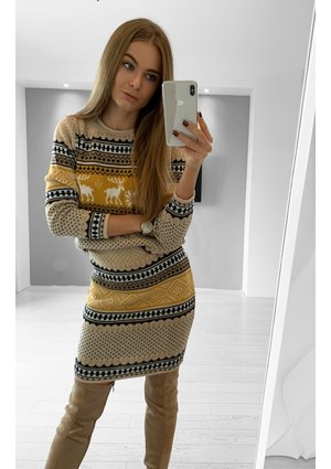 WINTER PRINT SWEATER SET ILM A34
