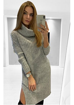 SWEATER TUNIC WITH TURTLENECK ILM  P09