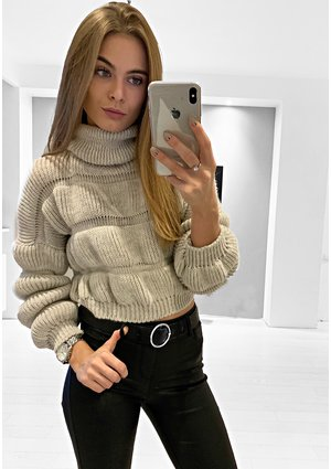 CROP TURTLENACK SWEATER ILM  P12