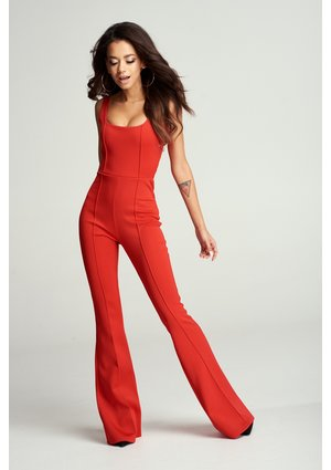 WIDE-CUT LEGS JUMPSUIT
