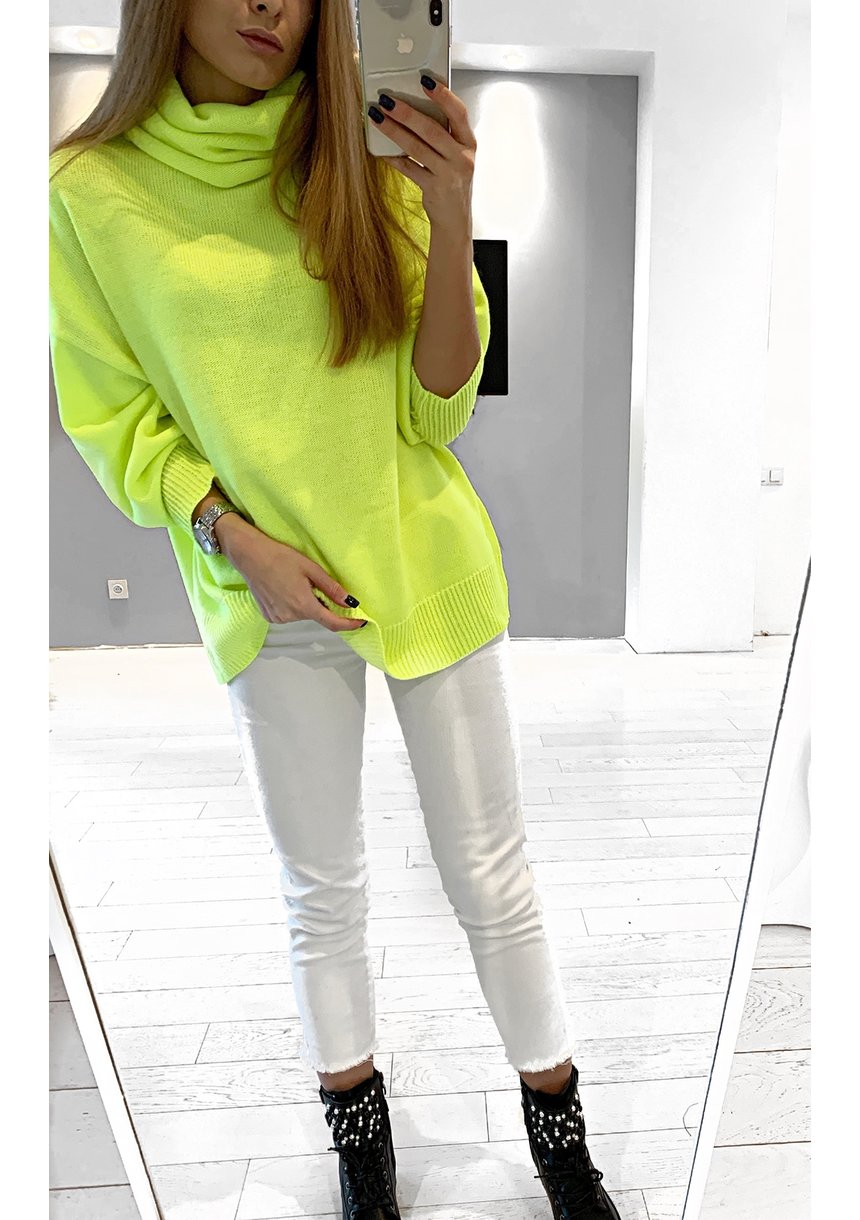 OVERSIZED NEON  SWEATER ILM A001