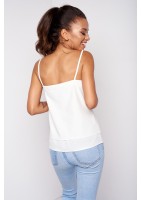 WHITE TOP WITH LACE DETAILS