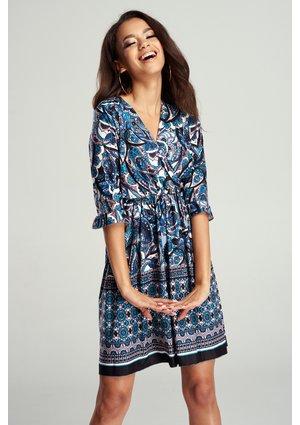 CROSSOVER DRESS PAMPELUNA BLUE