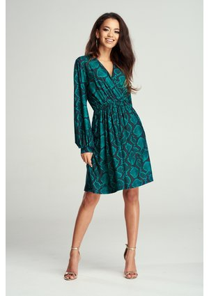 KOPERTOWA DRESS GREEN SNAKE PRINT