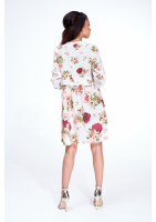 SMOCK DRESS IN COLORFUL PRINT