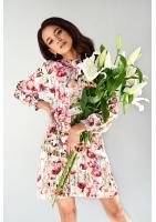 DRESS Z PÓŁGOLFEM FLOWERS