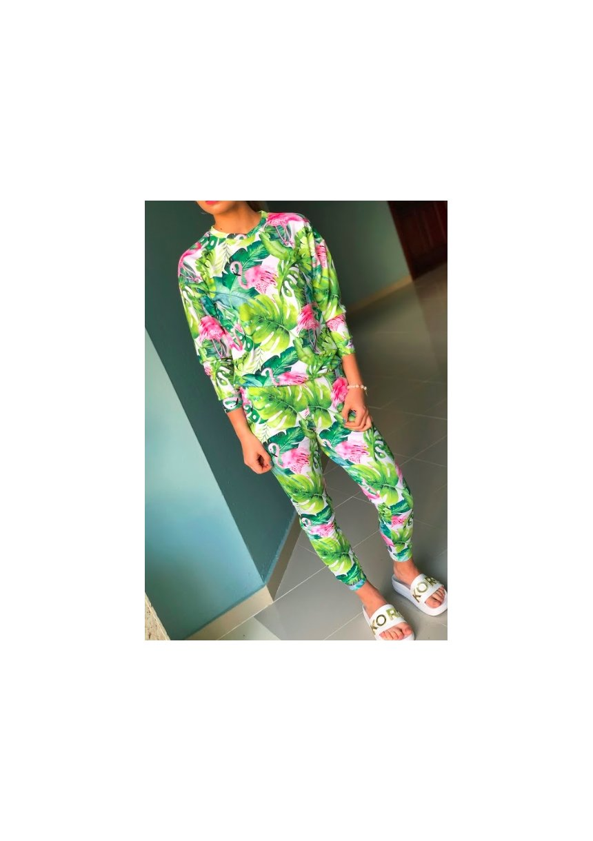 SWEATPANTS IN MONSTERA PRINT ILM