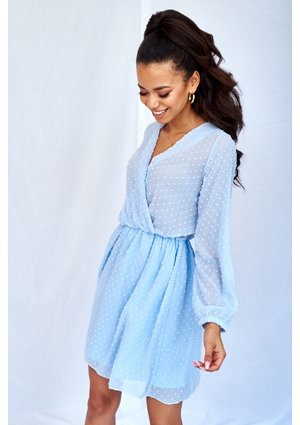 BABY BLUE CHIFFON DRESS