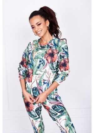 SWEATSHIRT IN TROPICAL PRINT ILM