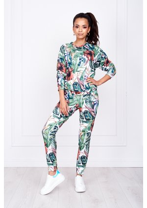 SWEATPANTS IN TROPICAL PRINT ILM