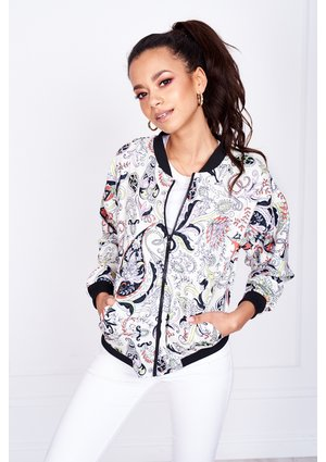 HINDI PRINT BOMBER JACKET ILM